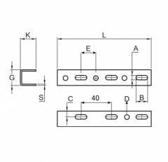 u-profil-teknik-çizim